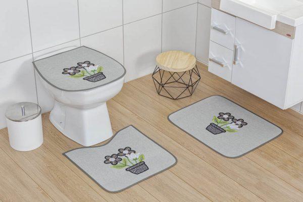 Jogo Banheiro emborrachado - Cor 01